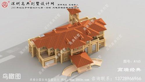 句容市乡村豪华三层别墅设计图,厨房单独