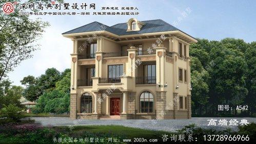 定远县外观欧式三层别墅外观图