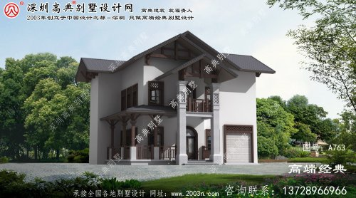 将乐县二层小别墅效果及设计图