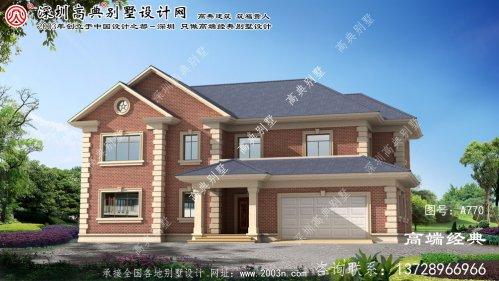 漳浦县二层半带车库别墅设计图纸