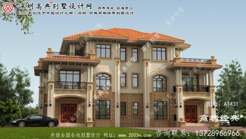 蔚县自建双拼别墅设计图