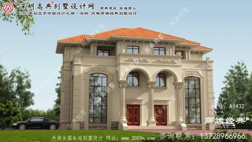 怀来县乡村双拼别墅设计图
