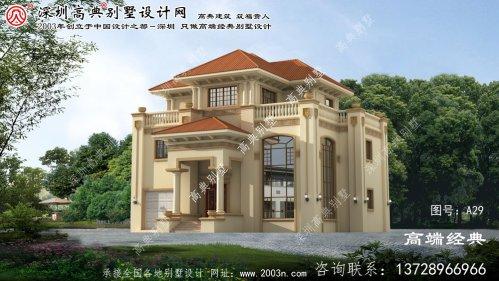 义县欧式别墅三层设计图纸