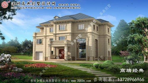 长岭县三层楼中楼别墅设计图