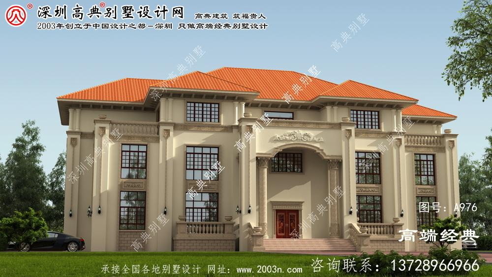 谷城县新式别墅图纸