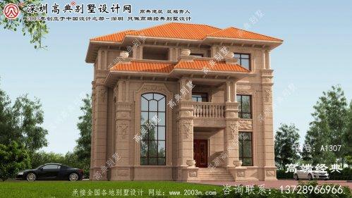 花都区欧式石材别墅设计图