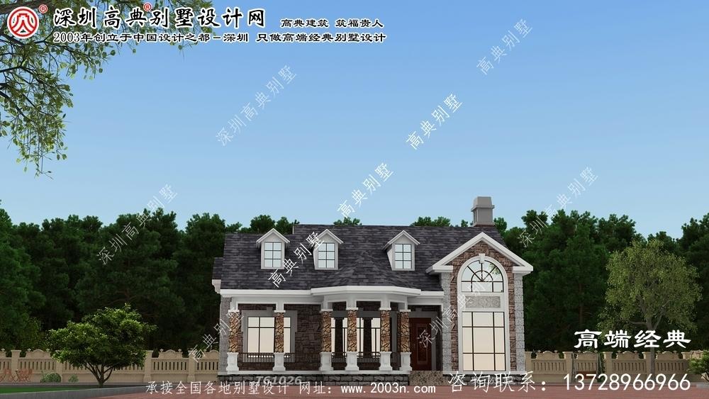 龙马潭区复式两层别墅设计图