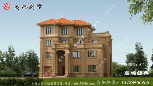 皮山县农村建房三层设计图