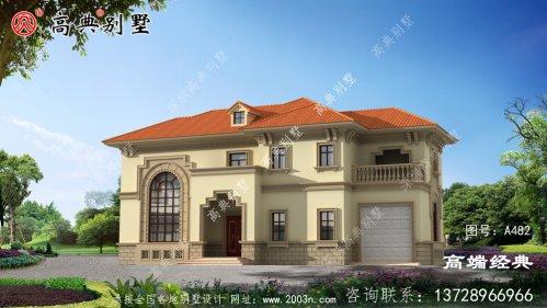 农村自建两层小别墅车库这样设计你见过吗?
