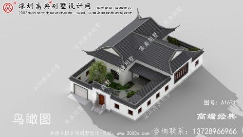 鼎城区气质和精致中式别墅设计图纸及效果图