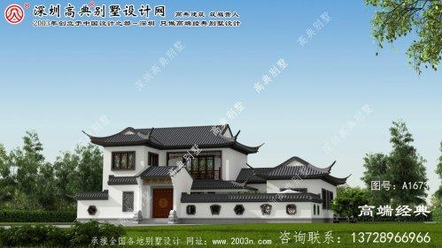 安乡县中档双层别墅最适合,占地249平方米。