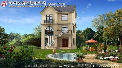 望都县美丽大气的意大利风格三层别墅。