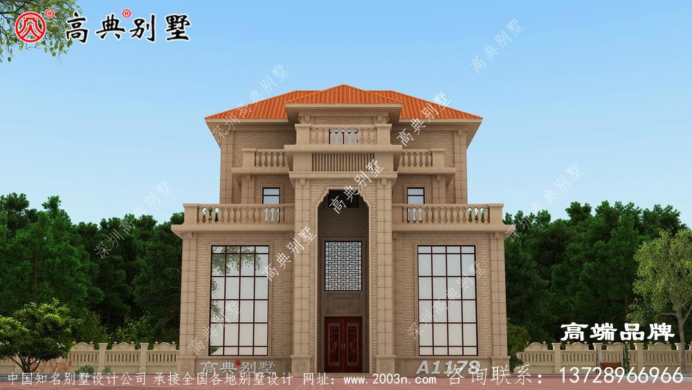 四层别墅设计图此方案外观别致,户型实用