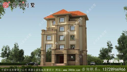 农村三层半别墅老家建上一栋,走上人生巅峰。