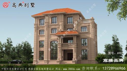 豪华四层欧式石材别墅外观图