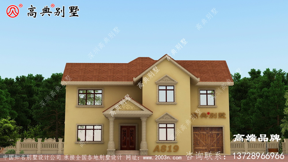 农村建房两层设计效果图带堂屋