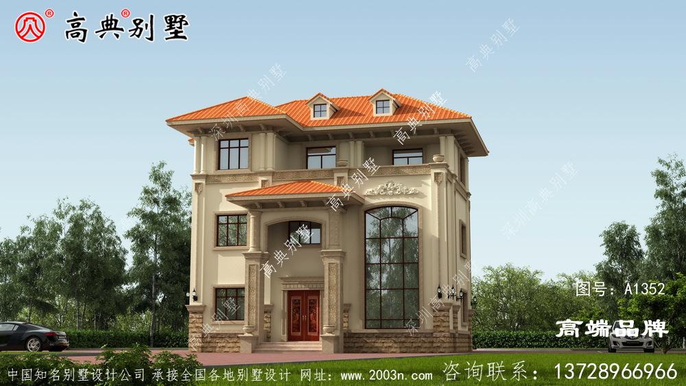 房屋设计图整体给人雅致的美感