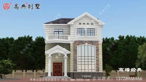 临清市 三层简欧农村房子户型图,适合农村建