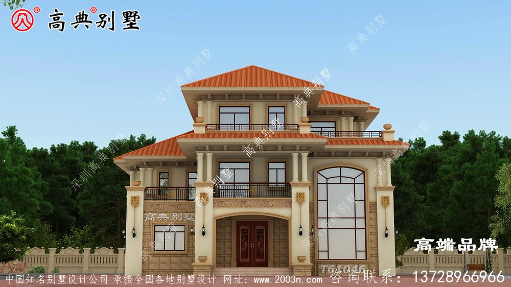 这款复式三层别墅设计十分适合居住
