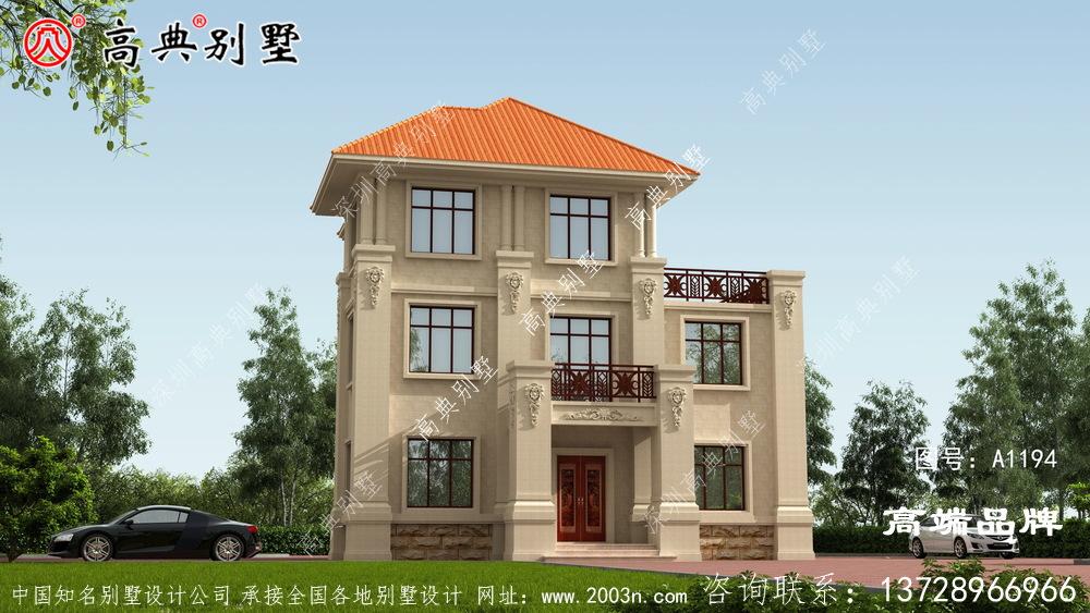 这款别墅,在农村建一栋很有面子。