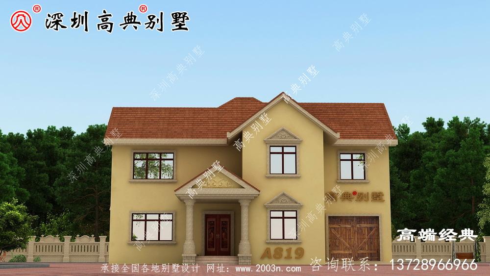 农村欧式自建房设计图,外观简约大气、是农村建房不错的选择!
