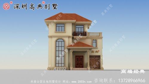 别墅设计图十分豪气,造型精美,建成似城堡,