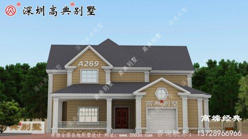 农村二层最美房屋,住着好又美观,不比高层别墅差