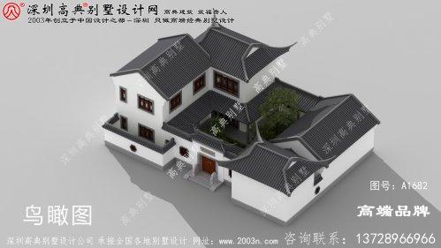 农村二层四合院设计图,秒杀各种洋别墅