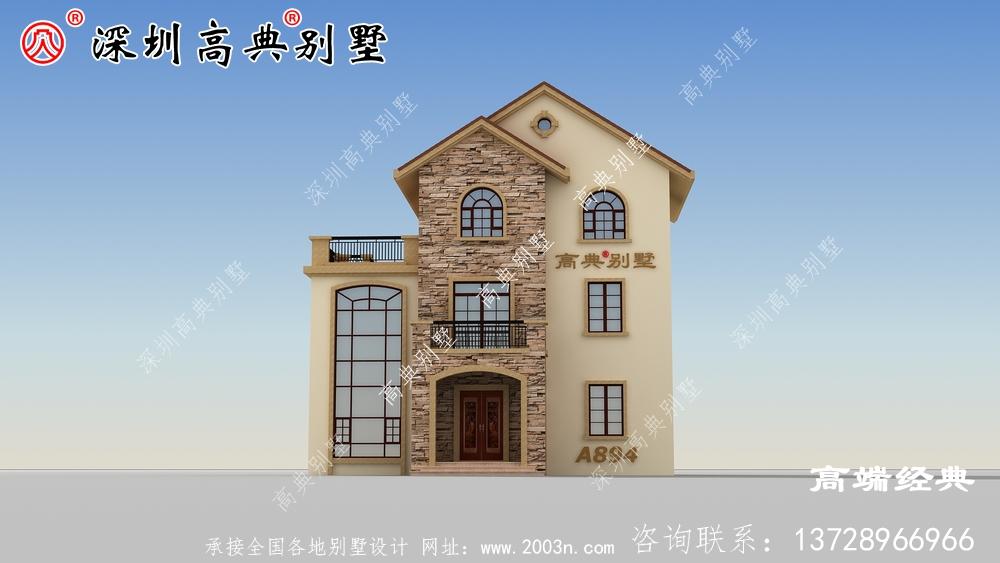 农村三楼别墅的最佳设计图,我也想住在这样的房子里。