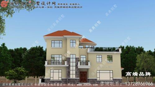 农村三层别墅设计图,户型大方宽