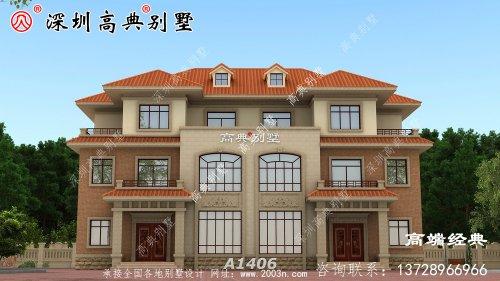 乡村三层别墅带阳台露台设计,给您不同的居住