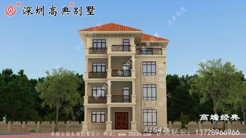 农村四层漂亮楼房设计图,比城堡还漂亮,你们