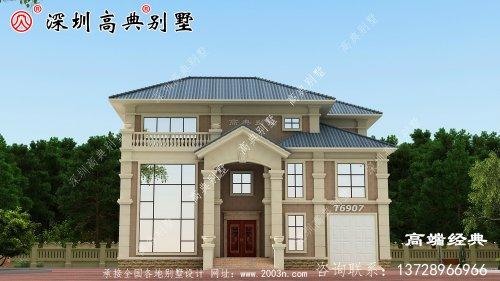 乡村三层楼的设计图,盖房子是大