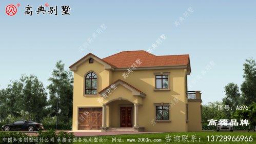 简欧两层别墅弧形屋檐设计充满欧