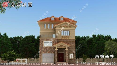 三层半农村欧式别墅设计图,经济
