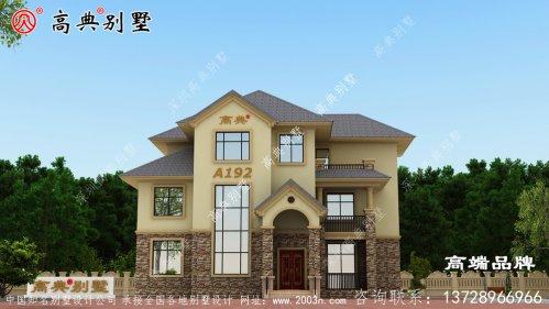 复式三层住宅,玄关设计将室内布