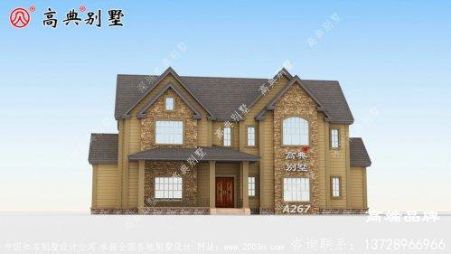 该二层别墅为欧式建筑,外立面效